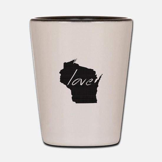 Love Wisconsin Shot Glass