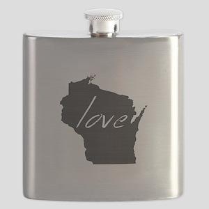 Love Wisconsin Flask
