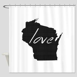 Love Wisconsin Shower Curtain