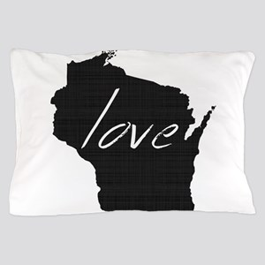 Love Wisconsin Pillow Case