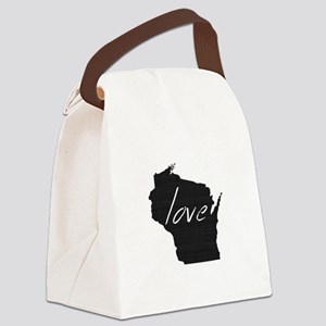 Love Wisconsin Canvas Lunch Bag