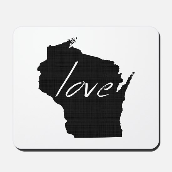Love Wisconsin Mousepad