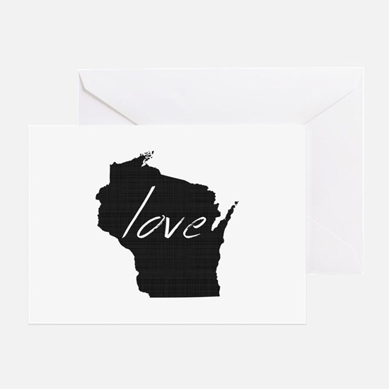 Love Wisconsin Greeting Card
