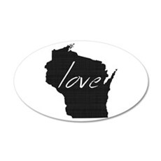 Love Wisconsin Wall Decal