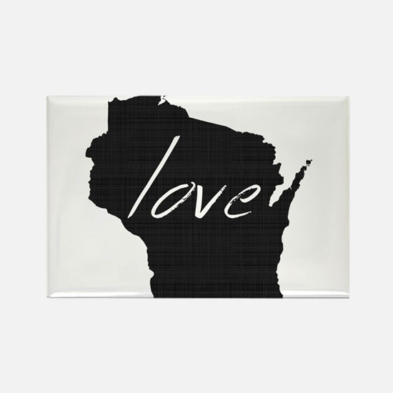 Love Wisconsin Rectangle Magnet