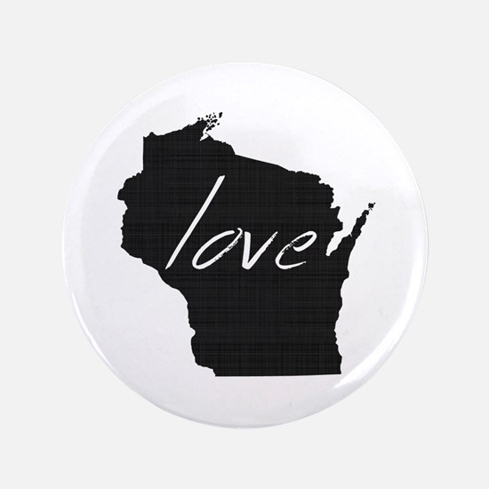 "Love Wisconsin 3.5"" Button (100 pack)"