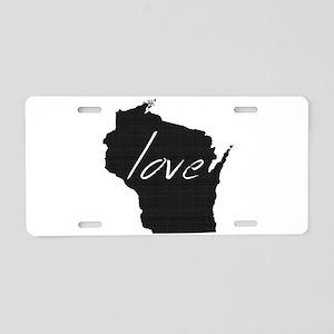 Love Wisconsin Aluminum License Plate
