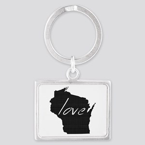 Love Wisconsin Landscape Keychain