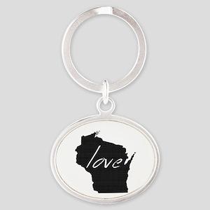Love Wisconsin Oval Keychain