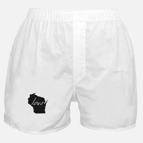 Love Wisconsin Boxer Shorts