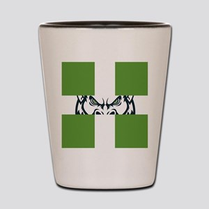 Green GFC Flag Shot Glass