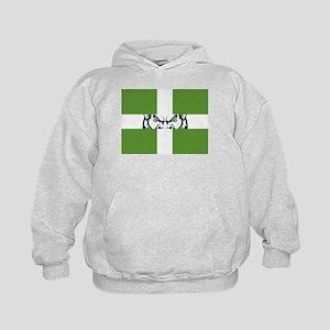 Green GFC Flag Kids Hoodie