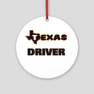 Texas Driver Ornament (Round)