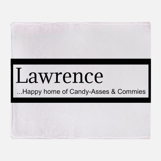 Lawrence Candy Asses & Commies Throw Blanket