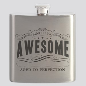 Birthday Born 1970 Awesome Flask