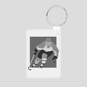 hockey player Aluminum Photo Keychain
