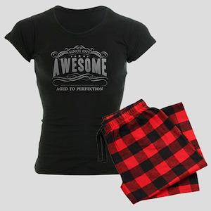 Birthday Born 1975 Awesome Women's Dark Pajamas