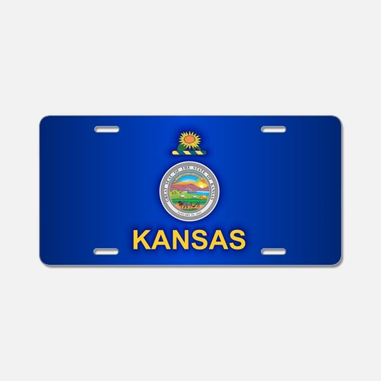 Kansas (v15) Aluminum License Plate