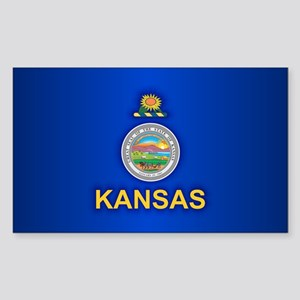 Kansas (v15) Sticker (Rectangle)