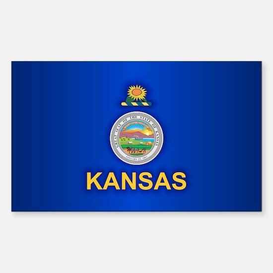 Kansas (v15) Sticker (Rectangle)