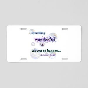 Something wonderful Aluminum License Plate