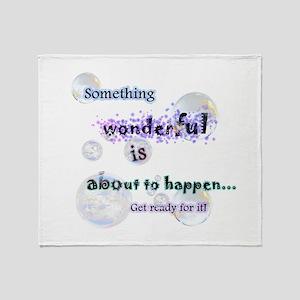 Something wonderful Throw Blanket