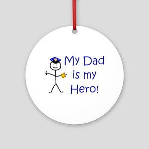 Police Kid Hero Ornament (Round)