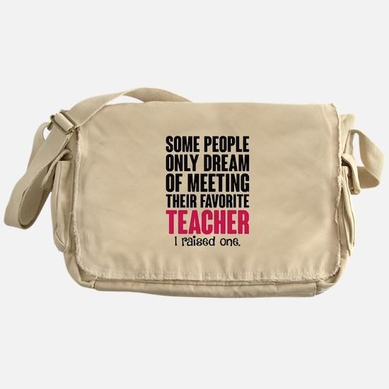 Proud Teacher Mom Messenger Bag