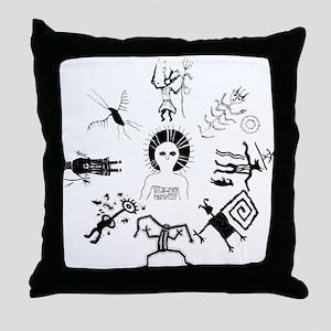 Shaman Circle Throw Pillow