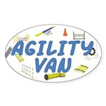 Agility Van Oval Sticker