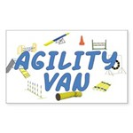 Agility Van Rectangle Sticker