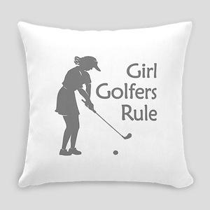 pink golf logo Everyday Pillow