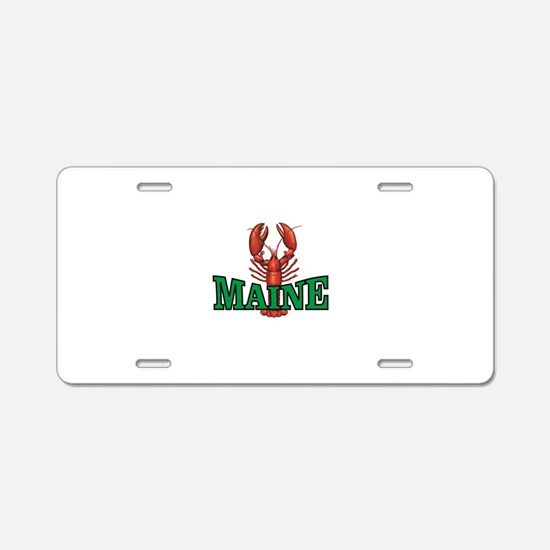 green maine lobster Aluminum License Plate