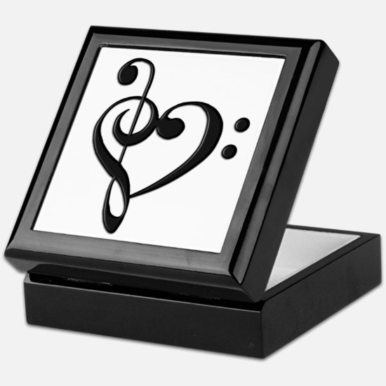 Music Clef Heart Keepsake Box
