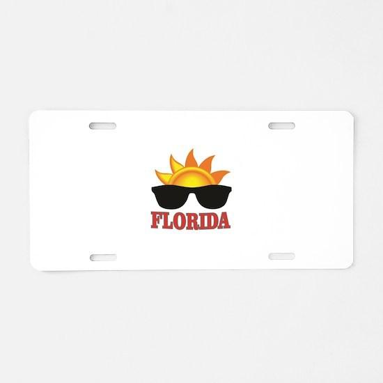 florida art shades Aluminum License Plate