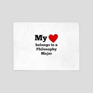 My Heart Belongs To A Philosophy Major 5'x7'Area R