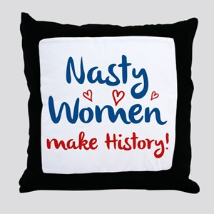 Nasty Women Throw Pillow