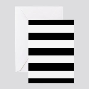 Black and white greeting cards cafepress black white stripes greeting cards m4hsunfo
