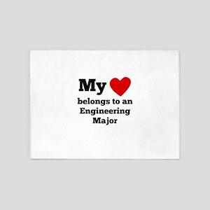 My Heart Belongs To An Engineering Major 5'x7'Area