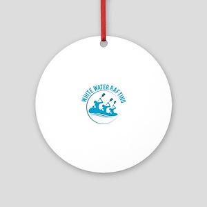 White Water Rafting Ornament (Round)