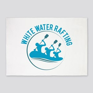 White Water Rafting 5'x7'Area Rug