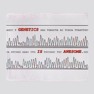 Genetics is Awesome Throw Blanket