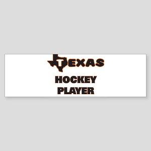 Texas Hockey Player Bumper Sticker