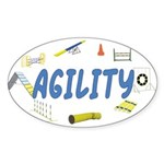 Agility Oval Sticker
