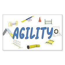 Agility Rectangle Sticker