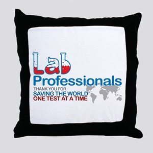 Saving the world one test at a time Throw Pillow