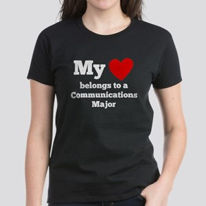 My Heart Belongs To A Communications Major T-Shirt