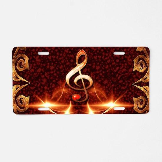 Decorative clef Aluminum License Plate