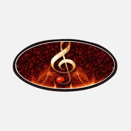 Decorative clef Patch
