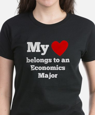 My Heart Belongs To An Economics Major T-Shirt